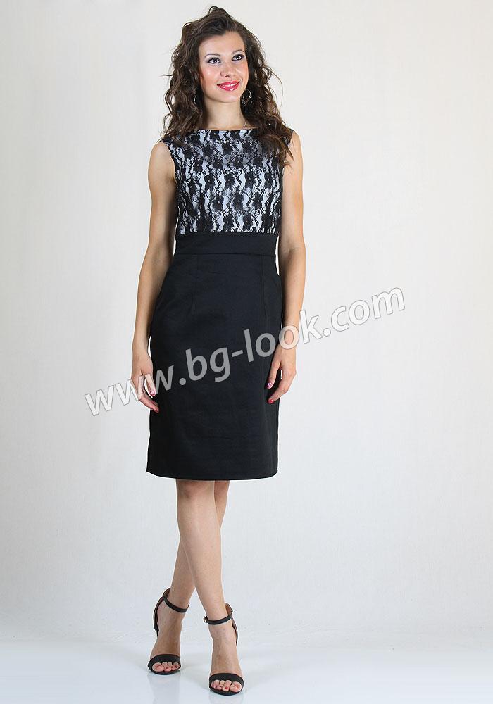 3c3dfb459b9 Елегантна рокля с висока талия и дантела RUMENA - Дрехи Fashion ...
