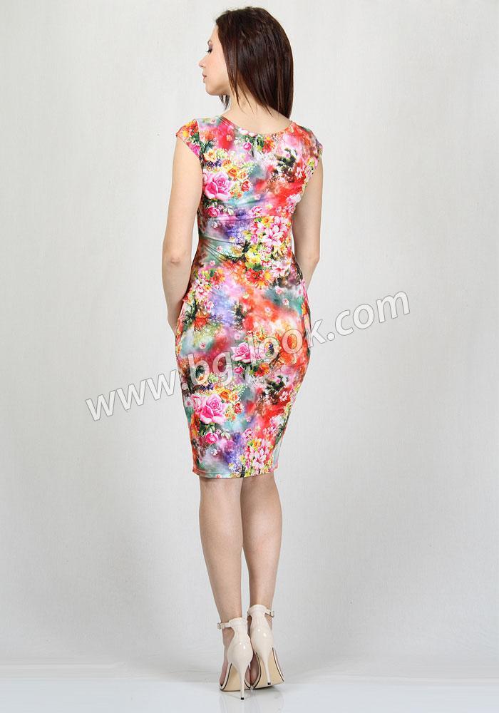 64a5cf6bbe2 Елегантна рокля на цветя RUMENA - Дрехи Fashion Colors ✨