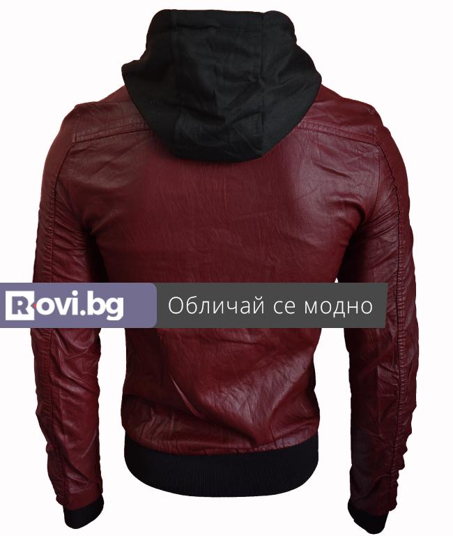 """68bb7499ea6 Мъжко кожено яке """"Емил"""" черен - Дрехи Fashion Colors ✨"""