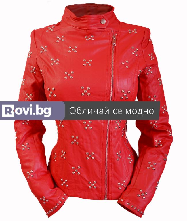 """80f26139d4d Дамско яке """"Преслава"""" Червен - Дрехи Fashion Colors ✨"""
