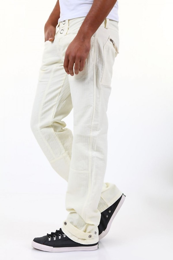 bba8edaa8fa 525 by Einstein - мъжки панталон - мръсно бяло - Дрехи Fashion Colors ✨