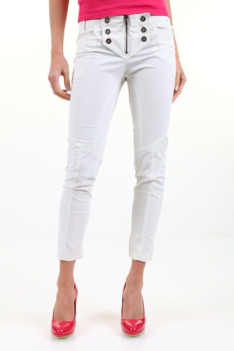8e0a45eac19 525 by Einstein - дамски панталон - бяло - декорат. копчета - Дрехи ...