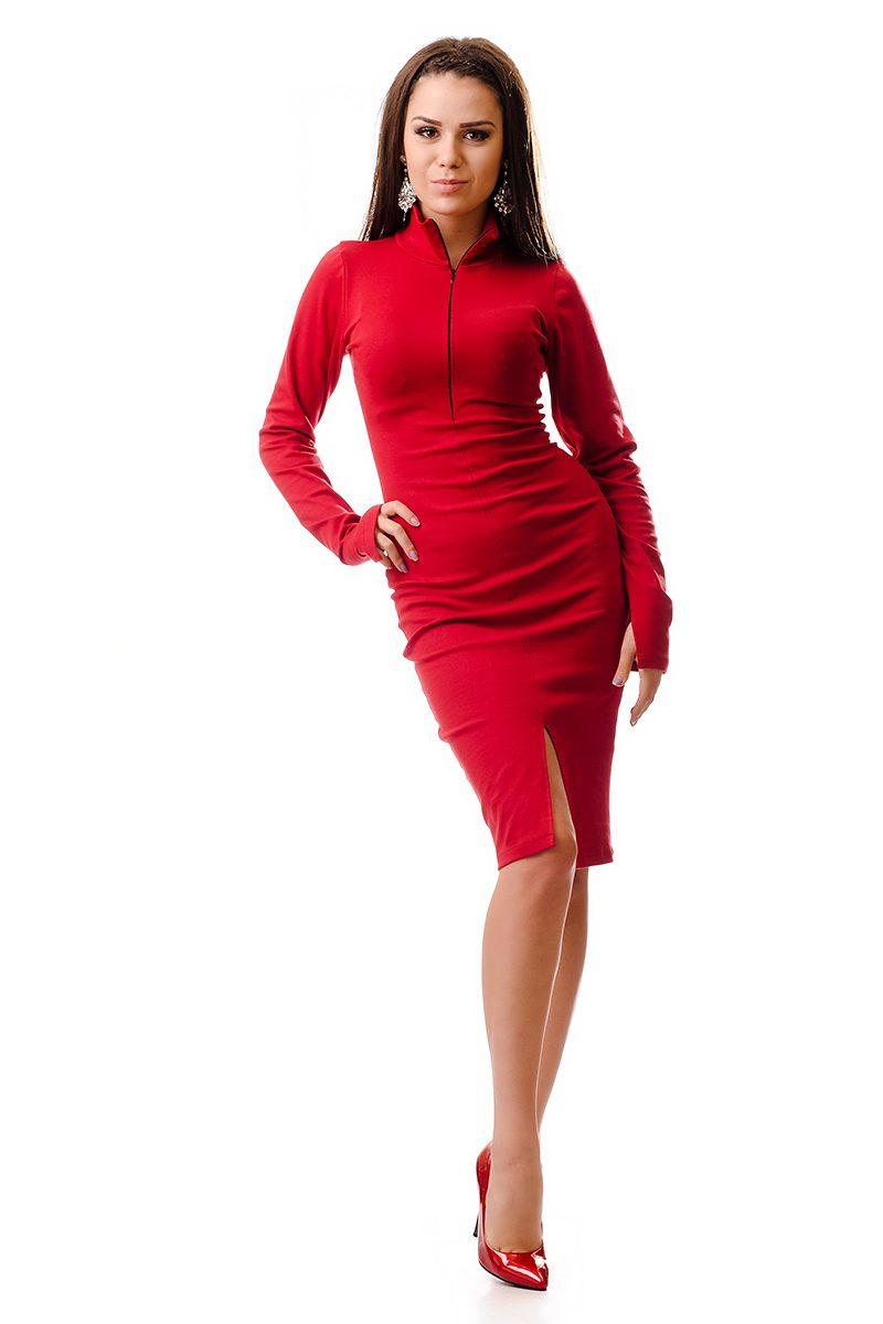 21755ad827f Дамска червена рокля по тялото - 20105408 - Дрехи Fashion Colors ✨