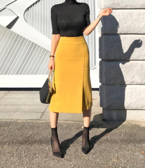Дългите поли с висока талия от 90-те