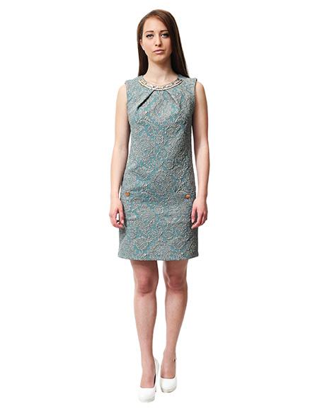 563c3479ec3 Права рокля със златист аксесоар - Дрехи Fashion Colors ✨