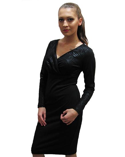 41dca83e0cb Дамска елегантна рокля с дълъг ръкав - Дрехи Fashion Colors ✨