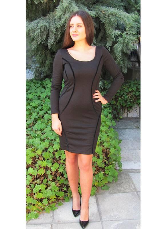 3793dd26198 Дамска рокля трико - Дрехи Fashion Colors ✨