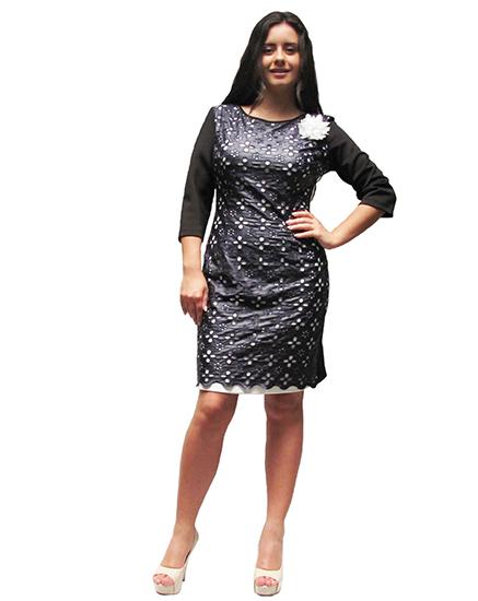 7b076850ccb Елегантна дамска рокля комбинация с кожа - Дрехи Fashion Colors ✨
