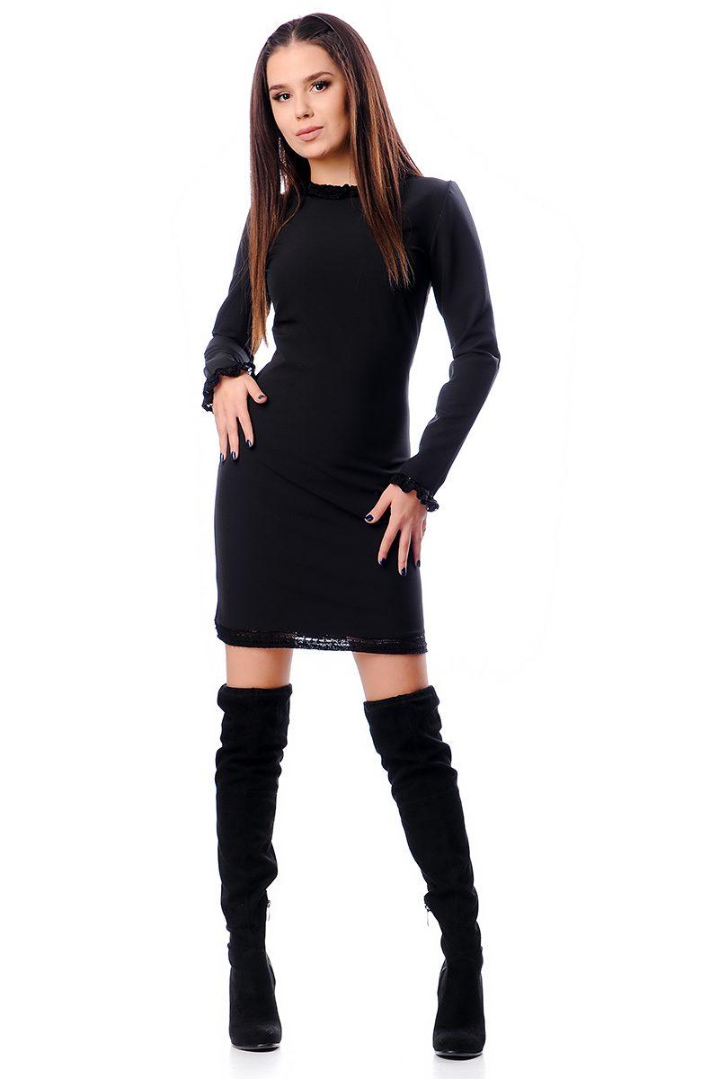 b2d51d50708 Къса черна дамска рокля - Дрехи Fashion Colors ✨